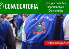 Convocatoria para dotación y equipamiento Guardia Indígena Kiwe Thegnas Accesorios convenio ALMACIGA